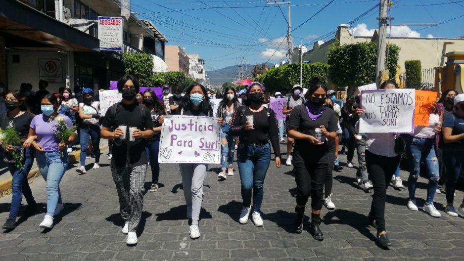 Familiares, amigos y mujeres de Tehuacán exigen justicia por feminicidio de Suri Saday