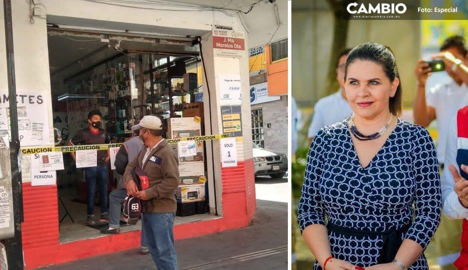 Norma Layon incapaz de controlar el comercio en Texmelcan, siguen abiertos negocios no esenciales