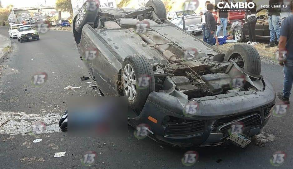 IMPRESIONANTE: automovilista cae de la autopista Puebla-México (Fotos y Video)