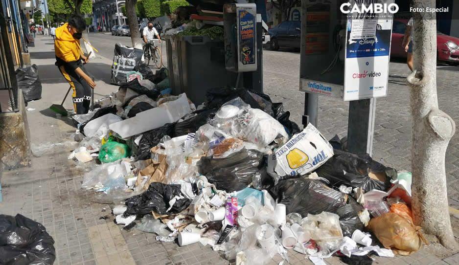 ¡Todo un cochinero! Así lucen las calles de Tehuacán repletas de basura (FOTOS y VIDEO)