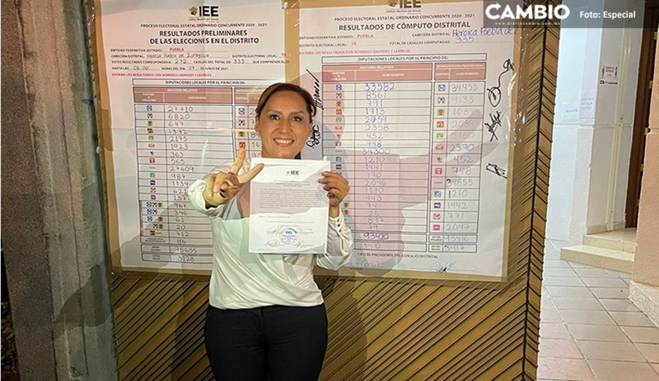 Entregan a Lupita Leal constancia de mayoría por el Distrito 16