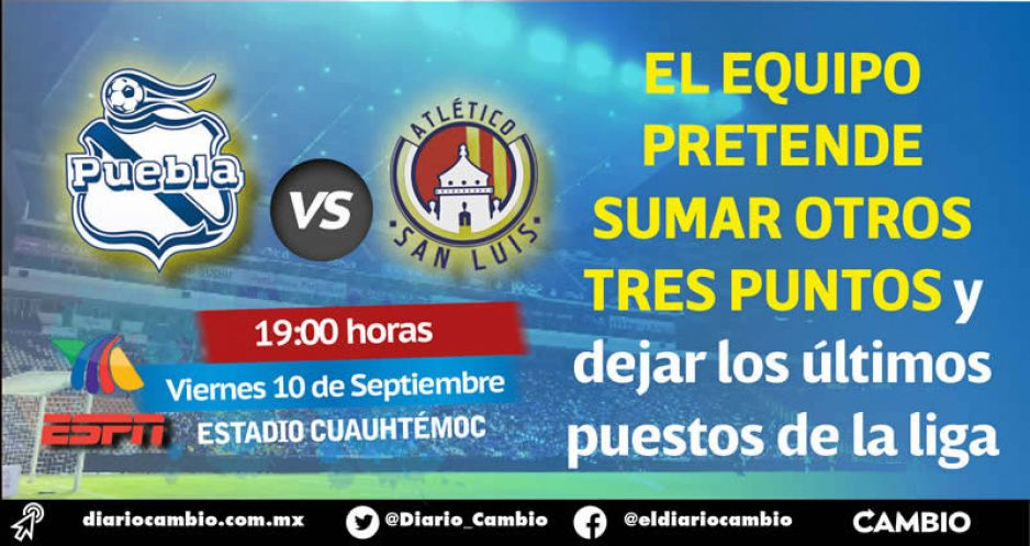 Club Puebla buscará segundo triunfo consecutivo, pese a bajas