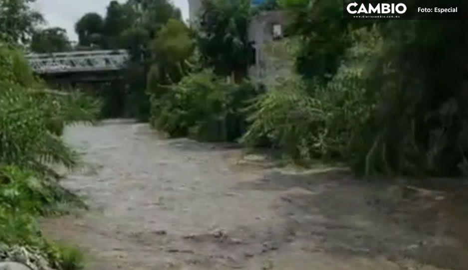 ¡Familias en alerta! Aumenta el nivel del Río Nexapa y se desborda