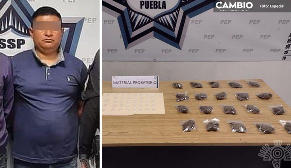"""Caen dos narcomenudistas en Totimehuacán; obtenían cristal y marihuana  de """"La Morena"""""""