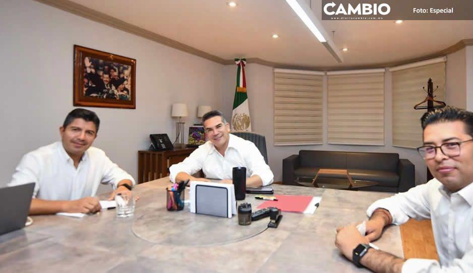 Lalo Rivera se reúne con Alito Moreno, dirigente nacional del PRI