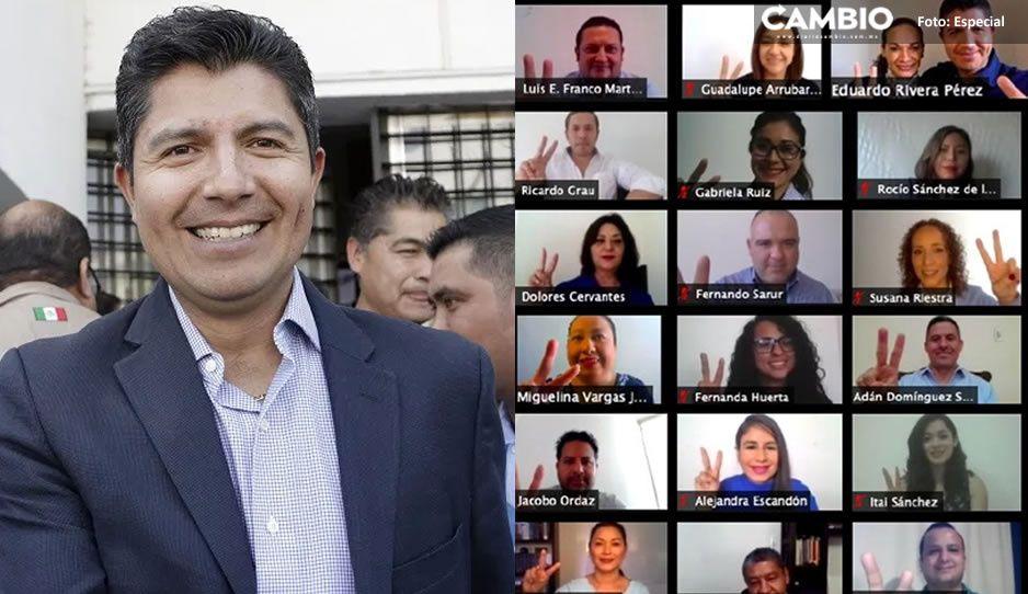 Lalo Rivera formaliza registro como aspirante a la alcaldía de Puebla; presenta su planilla