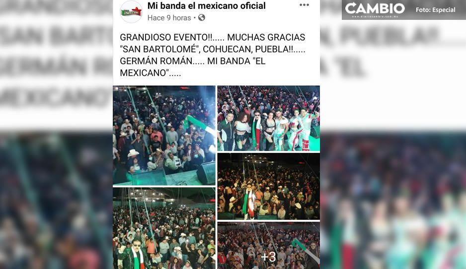 En pleno contagiadero arman bailongo con la Banda El Mexicano en Cohuecan (FOTOS y VIDEO)