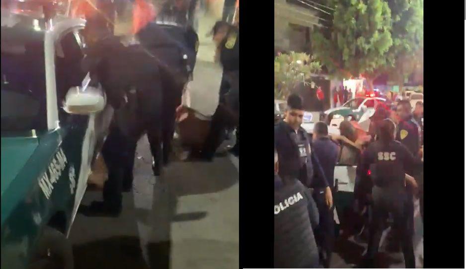 VIDEO: Así patearon policías a vecinos de Iztapalapa que se pusieron gallitos