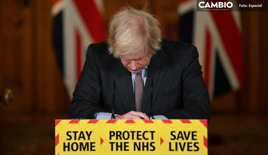 Boris Johnson asume responsabilidad de 100 mil muertes por Covid en Reino Unido