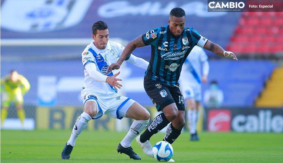 ¡De chiripa! Puebla logra empate agónico ante Querétaro