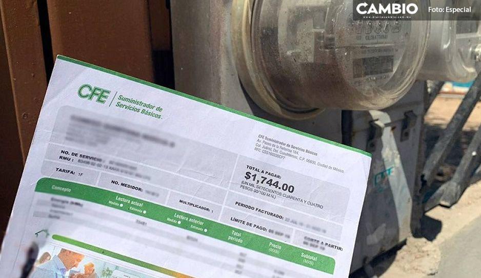 ¡Abusivos! Vecinos de Moyotzingo denuncian cobros de hasta 32 mil pesos  en recibos de luz