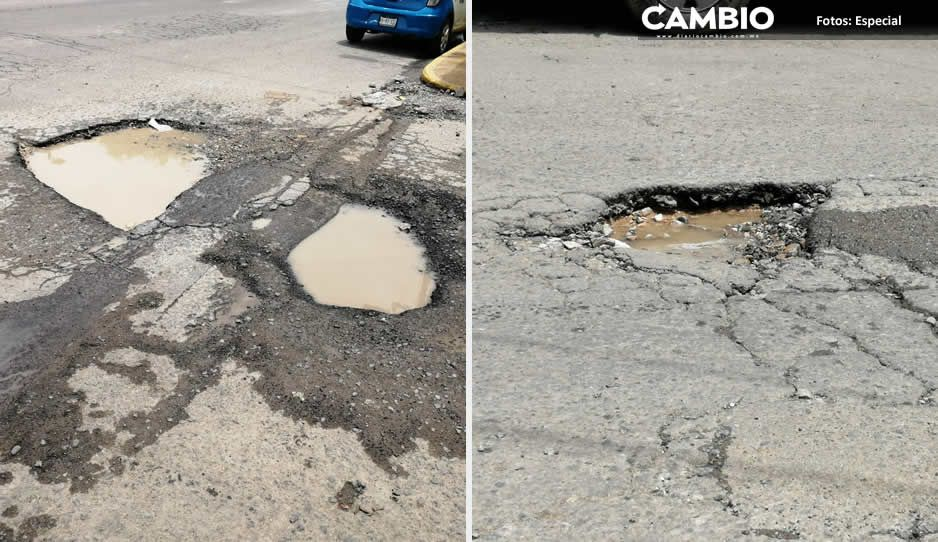 En Tehuacán destinan 2.5 millones para bacheo, pero las calles lucen destruidas