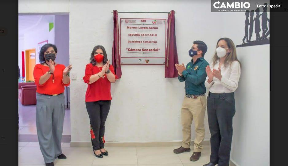 Norma Layón inaugura Cámara Sensorial en el CRI con apoyo de PEMEX, sección 46