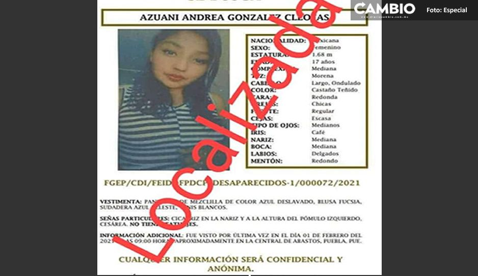 ¡Gracias por compartir! Azuani González ya fue localizada