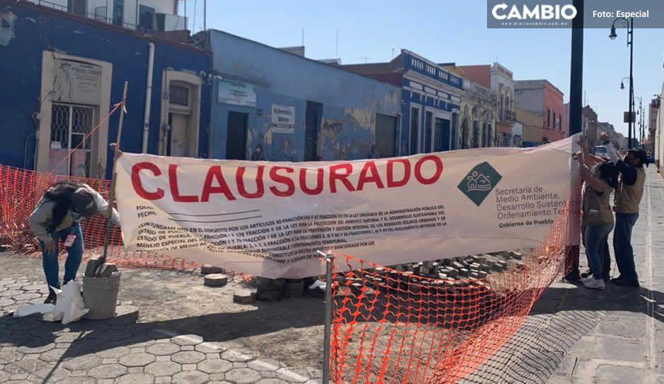 Secretaría de Infraestructura culpa al gobierno estatal del cierre de las calles 8, 10, 12 y 14 Poniente (VIDEO)