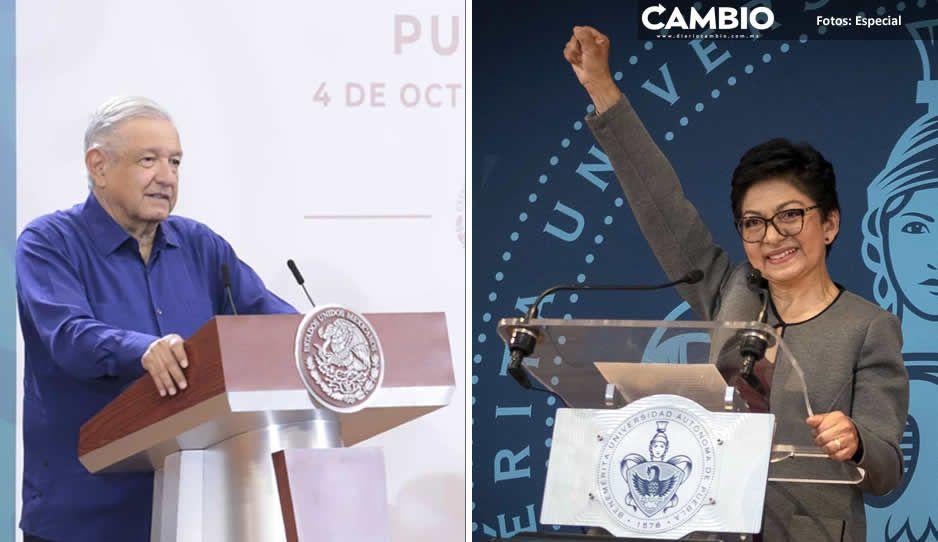 AMLO y la clase política poblana felicitan a la rectora Lilia Cedillo (VIDEO)