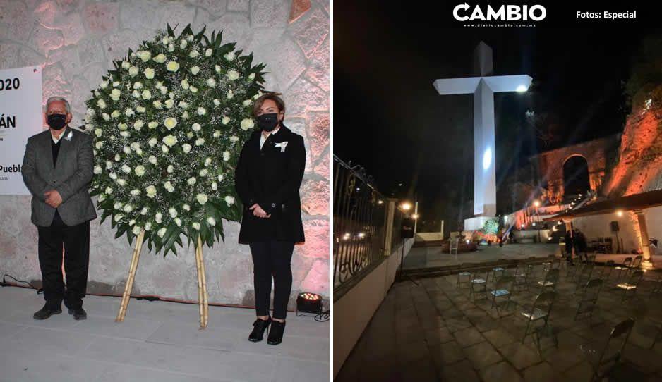 Peredo inaugura memorial para honrar a víctimas del COVID-19 en Teziutlán
