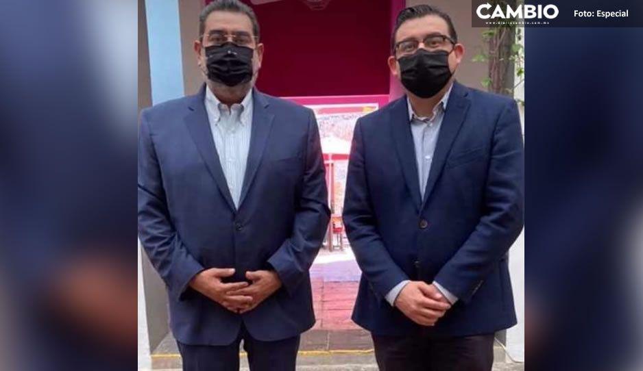 Lalo Alcántara se reúne con Sergio Salomón para generar acciones en la próxima legislatura