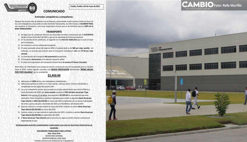 Audi ahora cobrará a obreros parte del peaje... ¡para ir a trabajar a la planta en Chiapa!