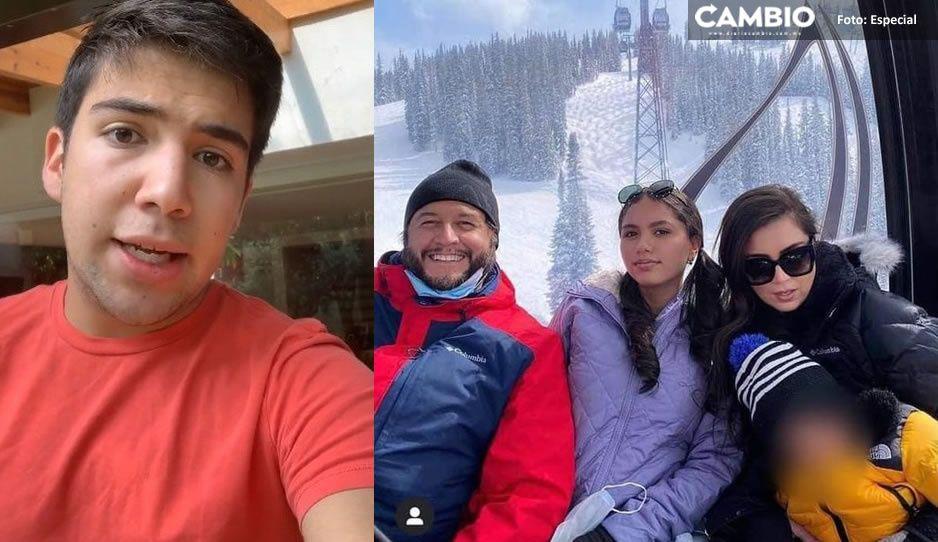 ¡Pelea fifí! Hijo de Calderón critica lujosas vacaciones de Ramón López, primogénito de AMLO