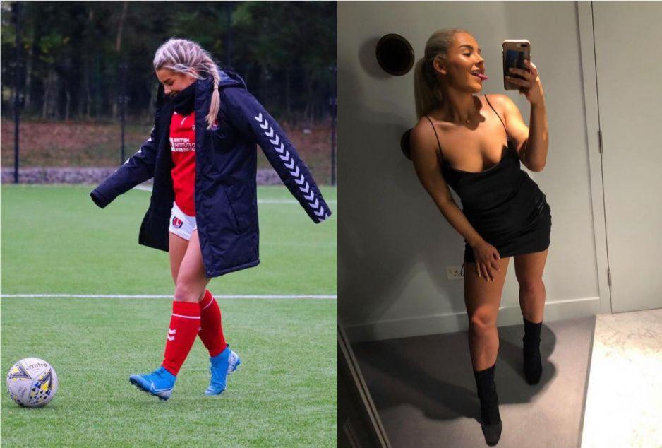 Despiden a futbolista profesional de su club y se vuelve una chica perversa en Onlyfans