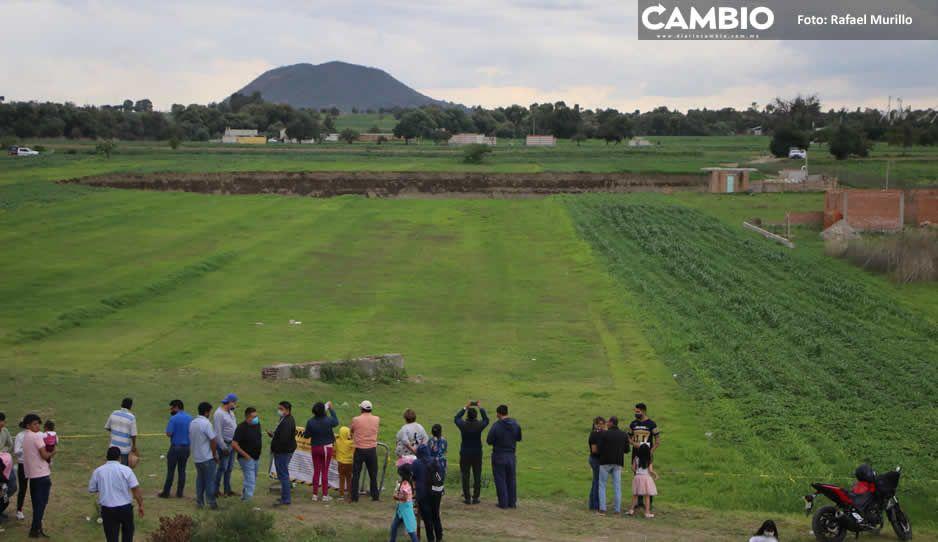 El socavón será rodeado por una malla ciclónica que delimitará el área de riesgo (FOTOS Y VIDEOS)