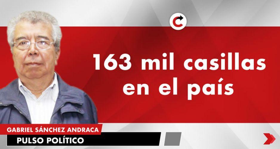 163 mil casillas en el país
