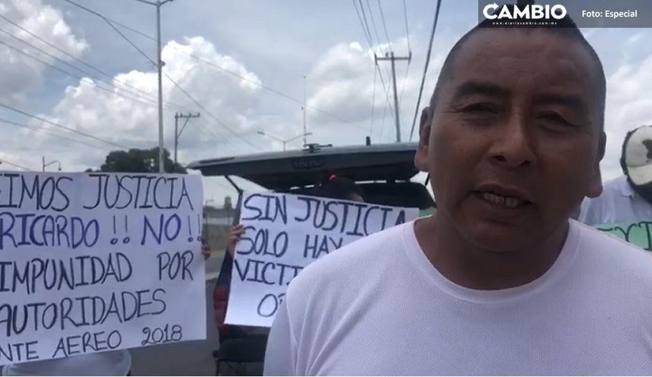 Libertad para Ricardo: Familia de implicado en helicopterazo de los Moreno Valle exige justicia