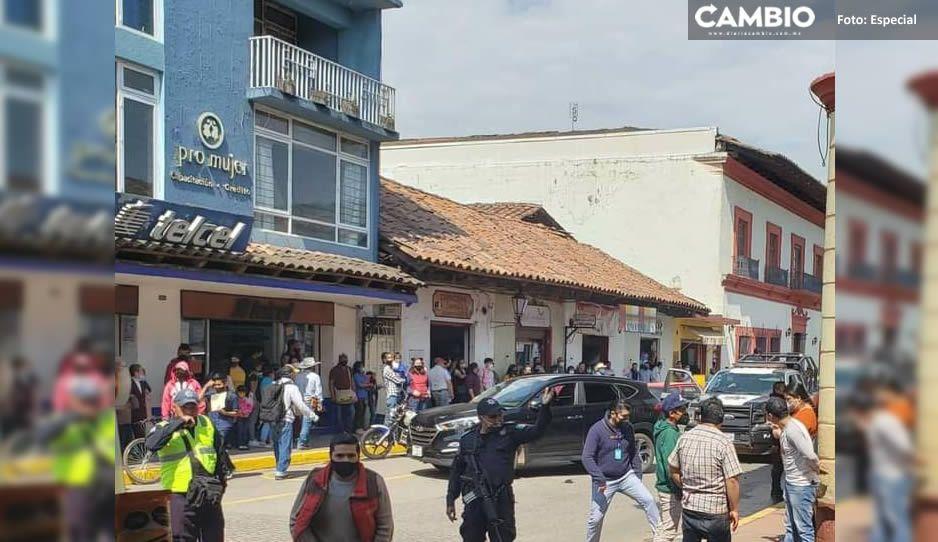 ¡Golpiza! Agreden a elementos de Vialidad de Zacatlán por levantar una infracción