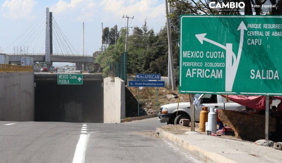 Túnel de acceso al Periférico Ecológico en la Orizaba-México permanecerá cerrado