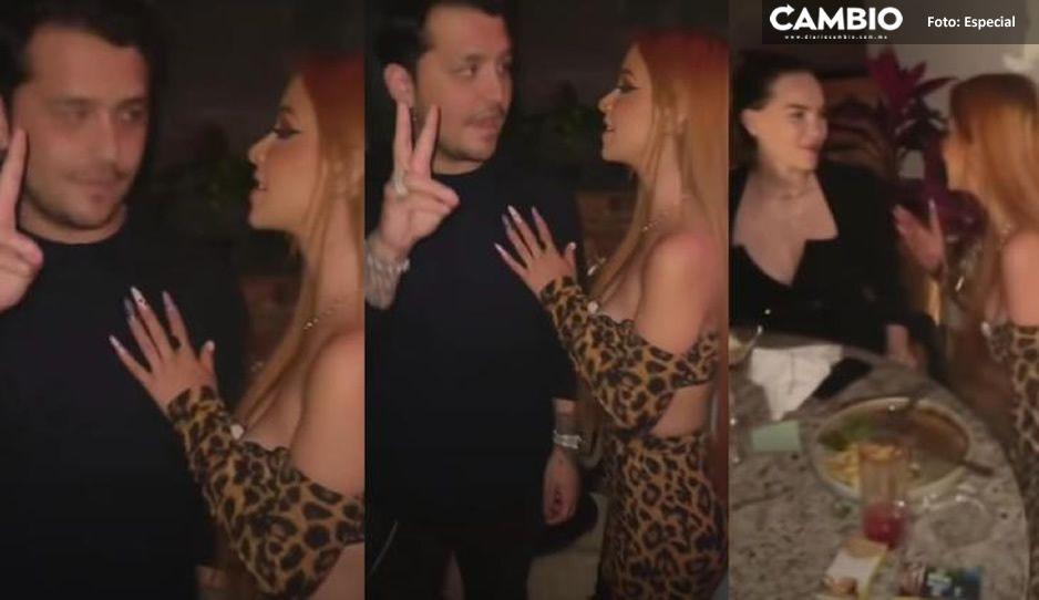 ¡Pero que atrevida! Critican a Caeli por 'coquetear' con Nodal en la cara de Belinda (VIDEO)