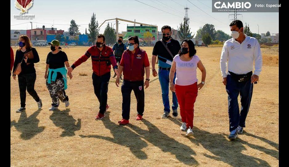 Lupita Daniel rescata campos deportivos Xel-Hua en la Reserva Territorial Quetzalcóatl