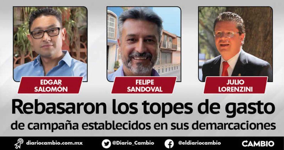 Memo Velázquez, Edgar Salomón y Felipe Sandoval gastaron de más en sus campañas y aun así perdieron