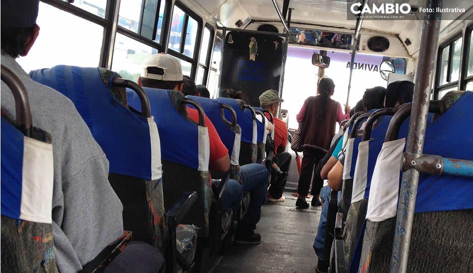 ¡ALERTA! Ola de asaltos por la mañana; atracan tres rutas en Puebla