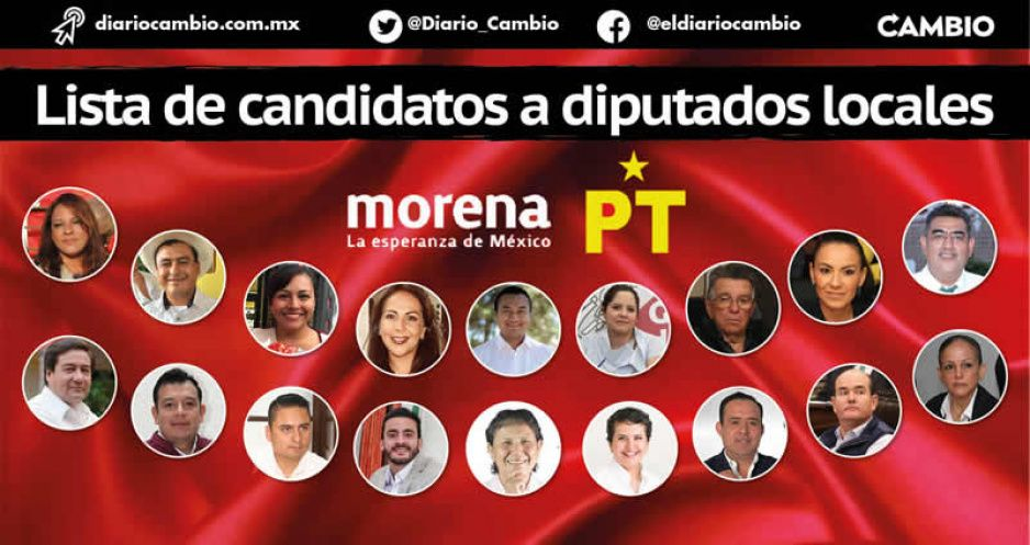 Esta es la lista de candidatos a diputados locales de Morena-PT: misterio en sólo 6 distritos