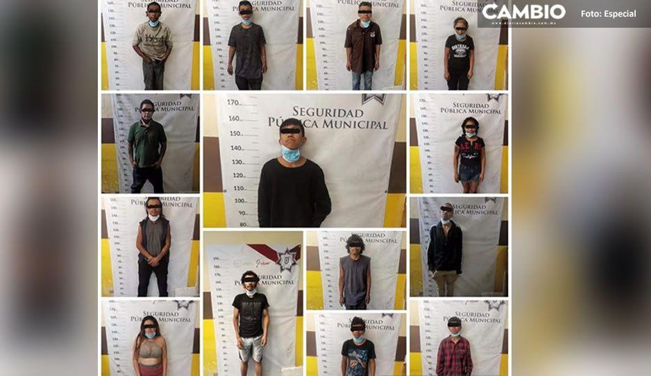 Encuentran bodega con artículos robada en Izúcar; detienen a 14 delincuentes