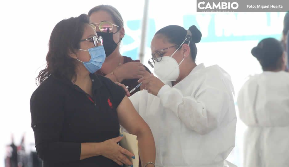 Puebla llegará al 80 % de cobertura tras jornada masiva de vacunación de la chaviza (VIDEO)