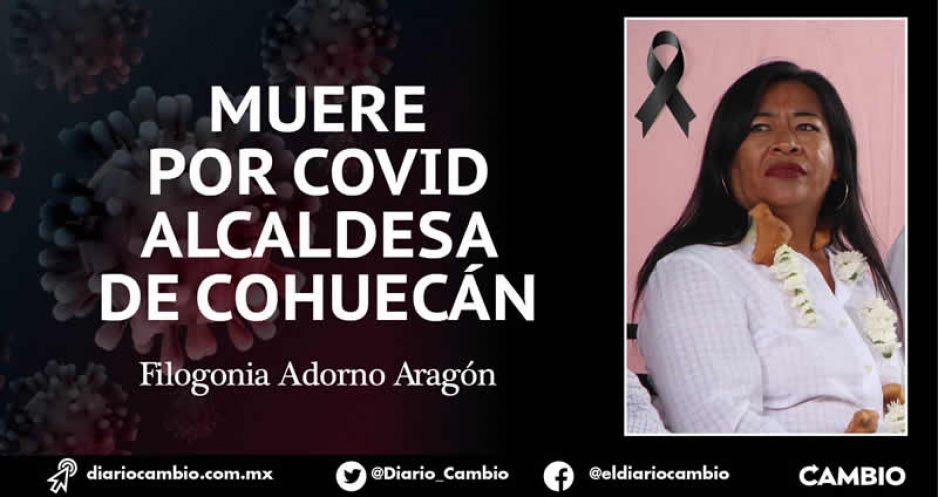 Muere por COVID alcaldesa de Cohuecán; suman 4 presidentes municipales que se lleva el bicho