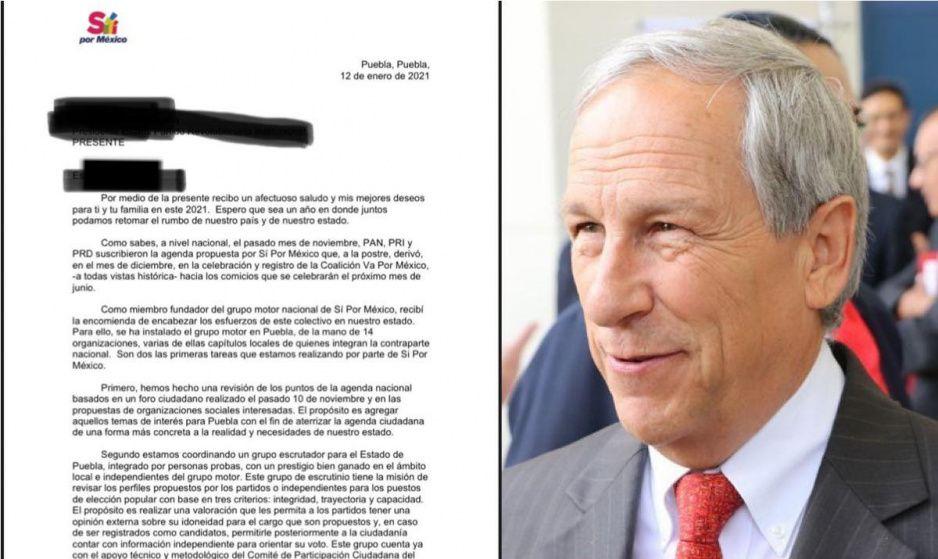 Enrique Cárdenas ya es el coordinador de Sí por México en Puebla y exige candidaturas al PRIANRD