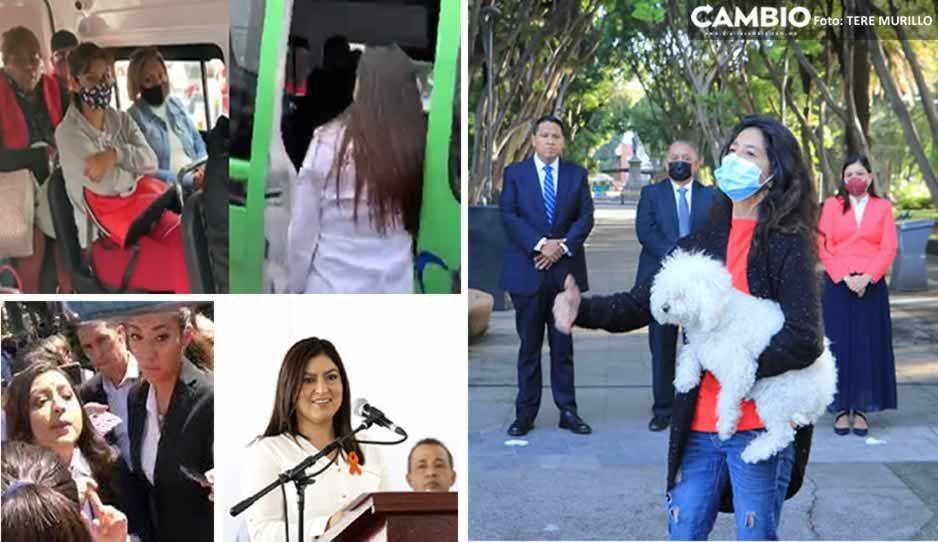 Los resbalones de Claudia Rivera en VIDEOS