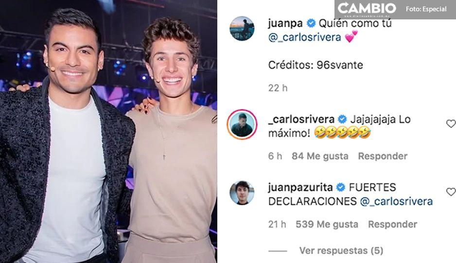 """¡Derraman miel! Juanpa le dedica """"Quién como tú"""" a Carlos Rivera (VIDEO)"""