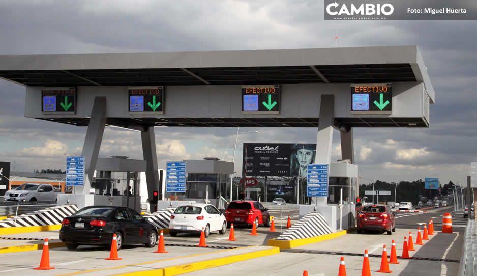 Carreteras de Cuota poblanas generaron 480 millones en el último trimestre de 2020