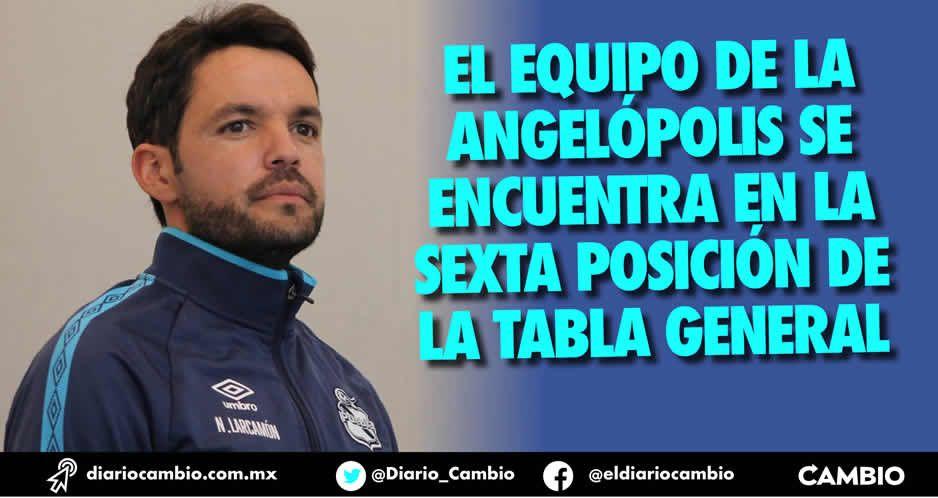 El Club Puebla avanza a paso firme a la liguilla, pero no se ilusiona: Larcamón