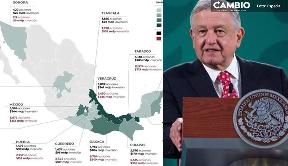 Puebla tendrá 152 millones de pesos para invertir en 2 mil 957 viviendas durante el 2021: AMLO